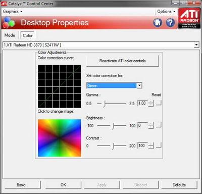 ATI-Einstellungen