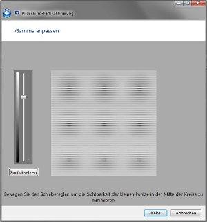 Windows-Kalibrierung