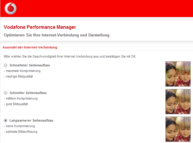 Vodafone UMTS Performance Manager