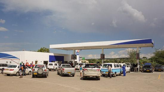 Namibia Rundreise Tankstelle